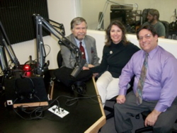 John Hogan and Kathleen Hogan, co-founders of HospitalityEducators.com at a recent Phoenix AZ radio talk show interview (with BOTTOM LINE Show sponsor, Mitch Speen)