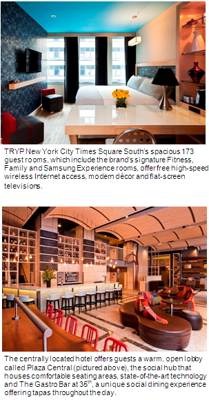 tryp by wyndham unveils first u s hotel in new york city. Black Bedroom Furniture Sets. Home Design Ideas