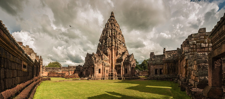Phanom Rung temple, near Buriram, Northeast Thailand. Image is accrediting to Wikimedia.