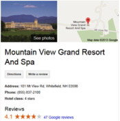 Screenshot - new hampshire resort search results - Mountain View Grand Resort & Spa