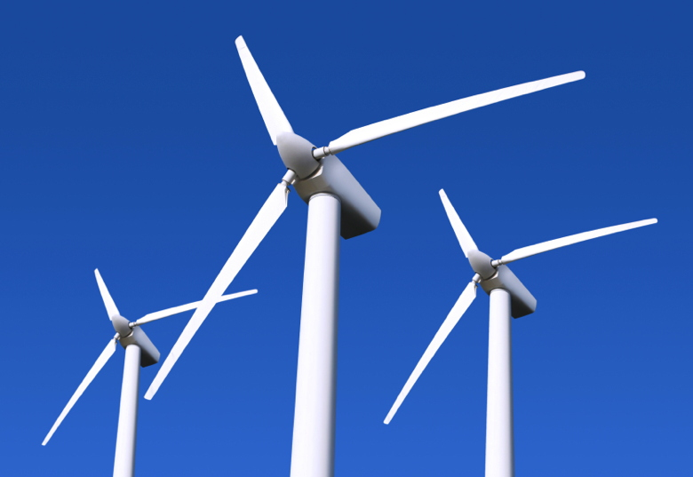 picture of three wind turbines