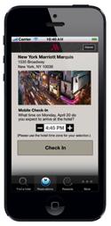 Screenshot - Marriott Mobile App