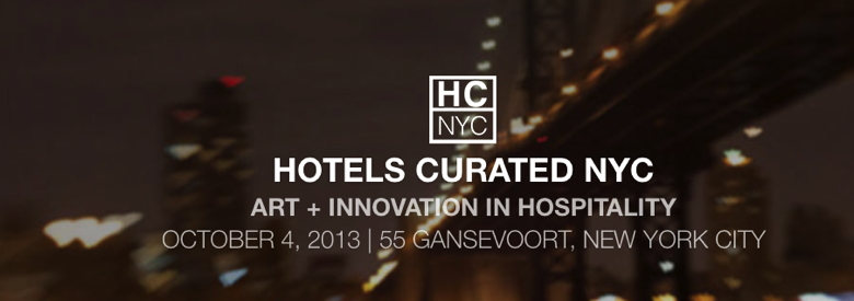 Advertisement for Hotels Curated NYC