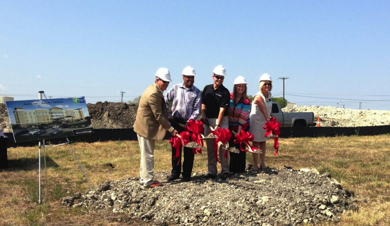 Picture from Groundbreaking Ceremony for Holiday Inn Express Waco, TX