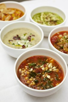 Image of soups developed by Jamie Oliver for Scandic meeting menus