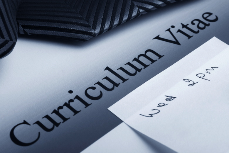 Curriculum Vitae or Resume on a desk