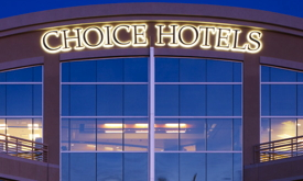 Picture of a building with Choice Hotels sign