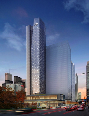 Rendering of Delta Hotel Toronto at Southcore Financial Centre