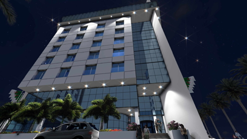 Rendering of the Radisson Blu Hotel, Algiers Hydra