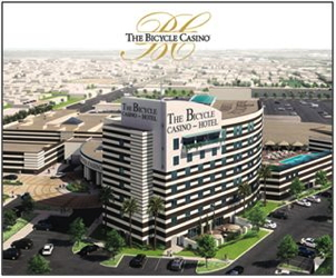 Rendering -  The Bicycle Casino Hotel in Bell Gardens California