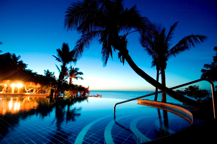 Anantara Bazaruto Island night view of pool