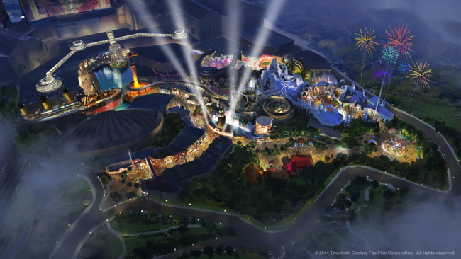 Rendering - First Twentieth Century Fox Theme Park in Malaysia