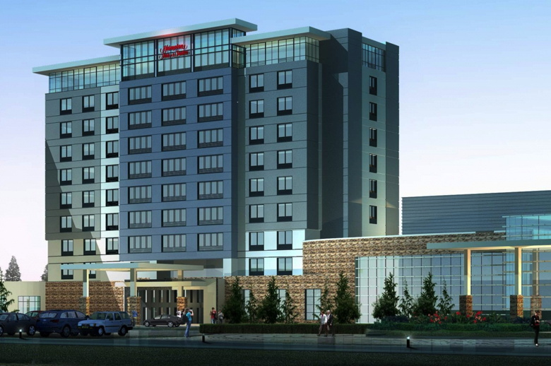 Rendering - Hampton Inn by Hilton Calgary Airport North - the closest hotel built to the airport in more than 25 years - is just minutes from popular area attractions, including Cross Iron Mills Shopp