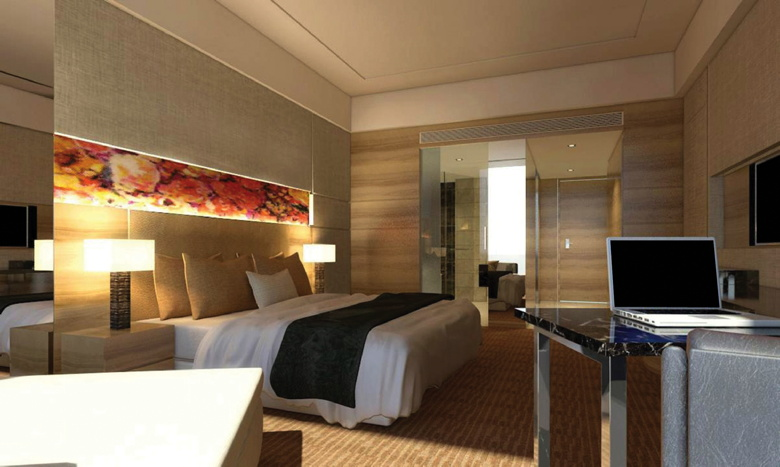 Guestroom -DoubleTree by Hilton in Hangzhou, China Credit: DoubleTree by Hilton