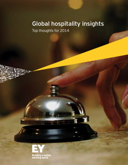 Cover page for EY's Global Hospitality Insights 2014 Report