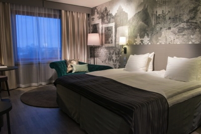 Guest room at Helsinki's Scandic Continental Hotel