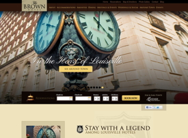 Screenshot Brown Hotel web site
