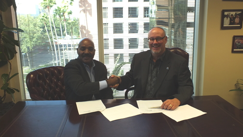 Picture from The American Hotel & Lodging Educational Institute (EI) memorandum of understanding signing with its new hospitality training partner in the Pacific, Island Training Solution
