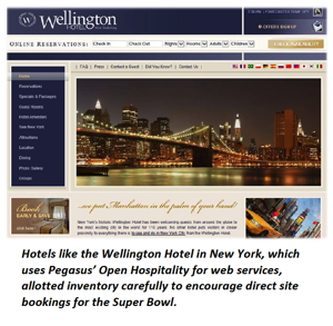 Screenshot - Website of Hotel Wellington New York