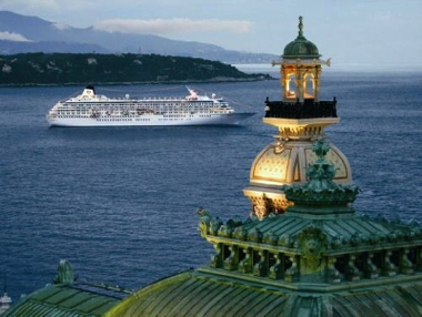 Crystal Cruise ship in Monaco