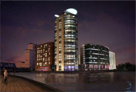 Rendering - Radisson Blu Hotel Kingston Upon Hull