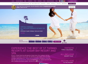 Screenshot - Sugar Bay Resort and Spa Website