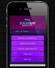 Screenshot - Sugar Bay Resort and Spa Mobile Website