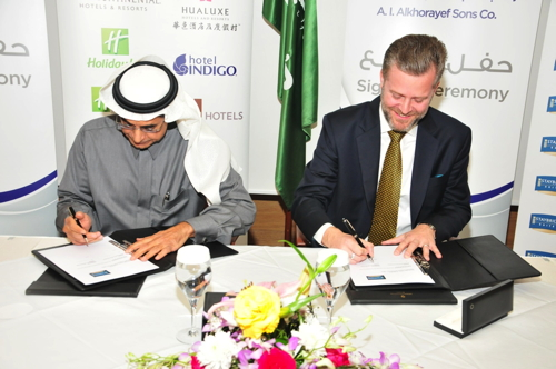 Picture from the signing ceremony for the Staybridge Suites hotel in Al Khobar, Kingdom of Saudi Arabia