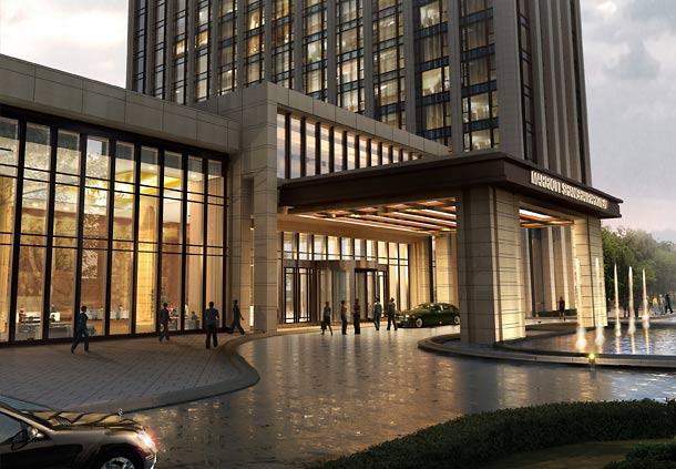 Exterior Shanghai Marriott Hotel Parkview