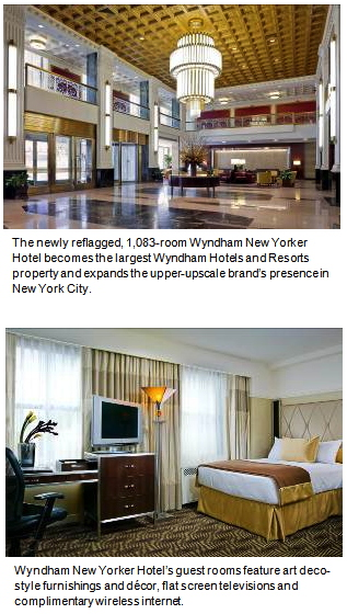 The Wyndham New Yorker Hotel in New York, New York
