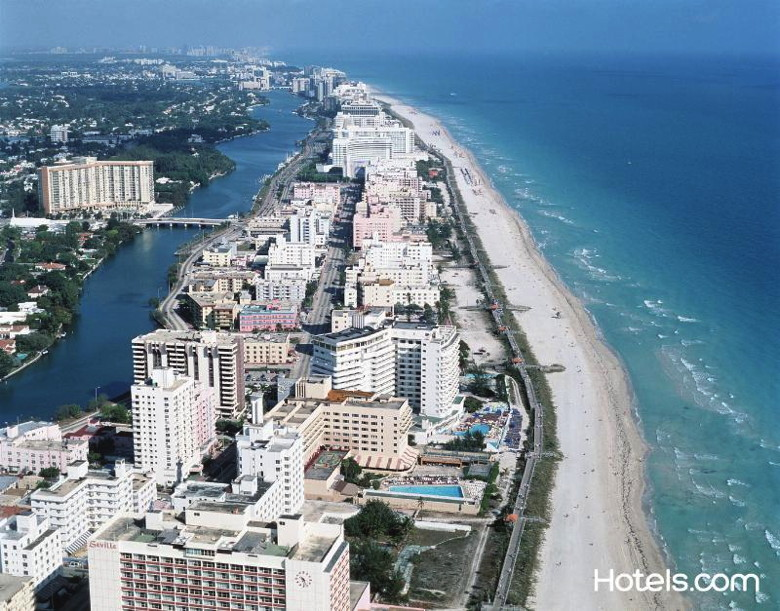 Miami coast line