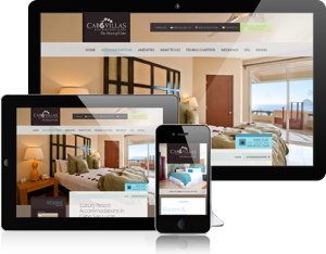 Cabo Villas Beach Resort Mobile web site on multiple mobile devices