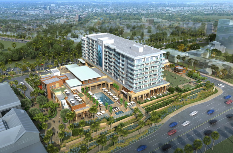 Rendering of New Hotel Development in Coastal Orange County, California