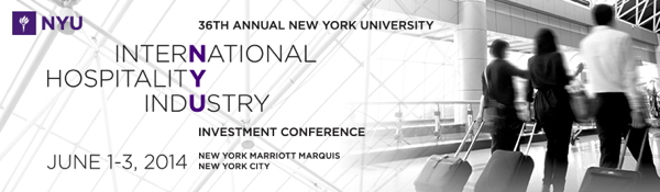 Advertisement for the 2014 NYU Hotel Investment Conference