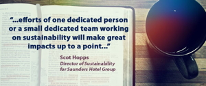 Picture of coffee cup with quote from Scot Hopps