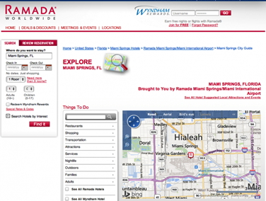 Screenshot Ramada Website