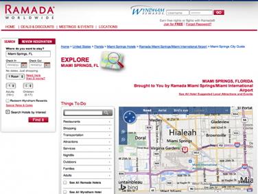 Screenshot Ramada Website