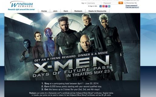Screenshot Wyndham Rewards website