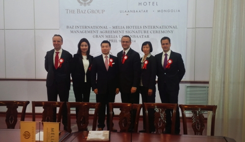 Picture from the ceremony announcing the Gran Melia Ulaanbaatar Hotel
