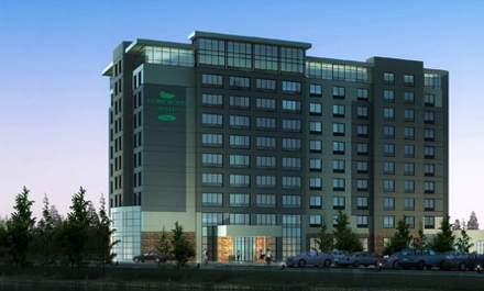 Rendering of the Homewood Suites by Hilton Calgary-Airport, Alberta, Canada. Credit: Homewood Suites by Hilton.
