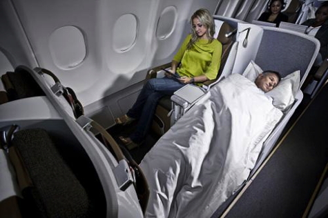 South African Airways Airbus A330-200 Business Class Cabin