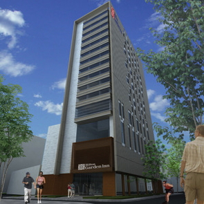 Rendering of the Hilton Garden Inn hotel in Santa Marta
