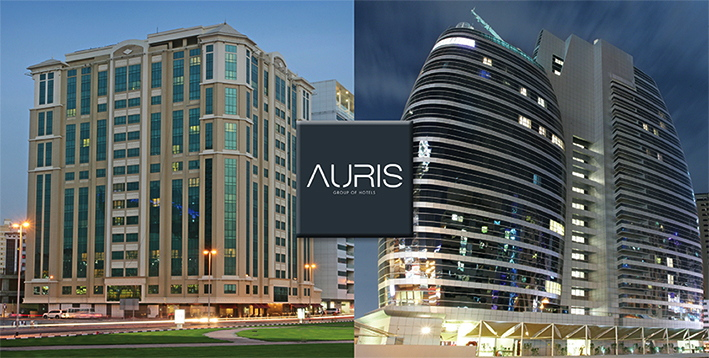 Images of two Auris Hotel Properties