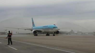 Korean Air Lands in Houston