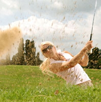 Golfer in a sand trap