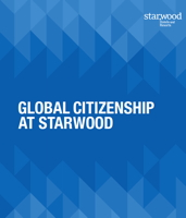 Cover from Starwood Global Citizenship Report