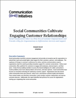 cover page for Social Communities Cultivate Engaging Customer Relationships eBook