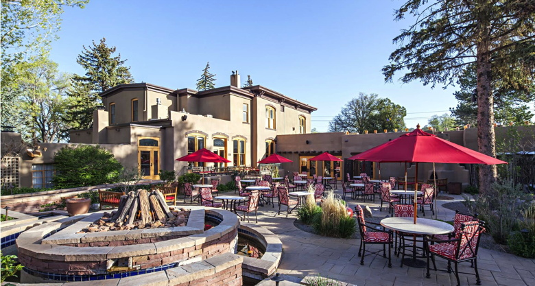 The Fuegeo Restaurant Patio at La Posada De Santa Fe