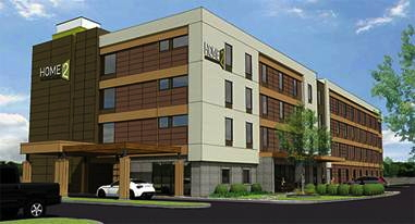Rendering of the Home2 Suites by Hilton Fargo, N.D.