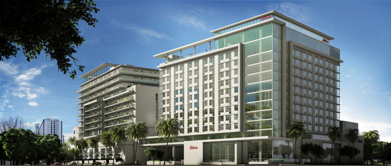 Rendering of the Atton Brickell Hotel in Miami